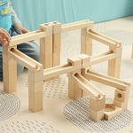 Kubi Dubi Slides Wooden Marble Run